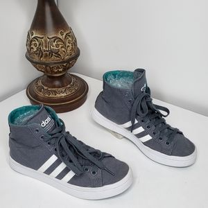 Adidas Courtadvantage Mid Top Gray sneakers 6.5-7